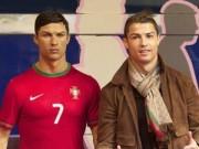 Bóng đá Tây Ban Nha - Điệu như Ronaldo: Chải keo vuốt tóc cho cả tượng sáp