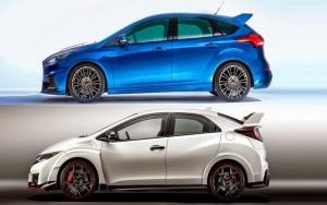 Ô tô - Xe máy - So kè Ford Focus RS và Honda Civic Type R