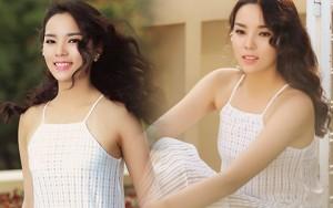 Thời trang - Hoa hậu Kỳ Duyên khoe vai trần với váy 2 dây