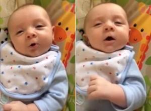 """8X + 9X - Em bé 7 tuần tuổi biết nói """"Hello"""""""
