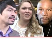 Clip Đặc Sắc - Pacquiao đưa nữ hoàng UFC khiêu khích Mayweather