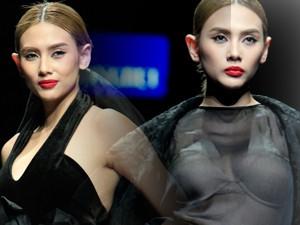 Thời trang - Võ Hoàng Yến xuyên thấu quyến rũ ở tuần lễ Thu Đông