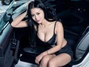 Ô tô - Xe máy - Hotgirl khoe vòng 1 nảy nở bên xe Porsche