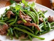 Ẩm thực - Bồi bổ cả nhà với món thịt bò xào đậu cove