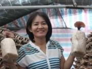 """Thị trường - Tiêu dùng - Nữ nông dân trồng nấm lỗ """"te tua"""", vẫn """"bám"""" nấm"""