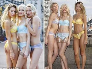 Thời trang - Người mẫu mặc nội y mỏng gây chú ý trên phố