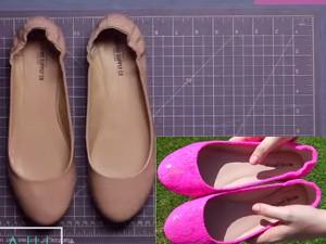 """Video clip Thời trang - """"Hô biến"""" giày cũ thành giày mới siêu đẹp"""