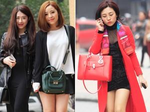 Váy - Đầm - Hửng nắng, chị em Hà Thành diện váy ngắn xuống phố