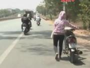 An ninh Xã hội - Camera giấu kín: Thủng săm giữa đường