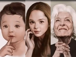 Bạn trẻ - Cuộc sống - Clip: Nét vẽ kỳ diệu con người từ trẻ đến già