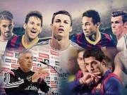 Ngôi sao bóng đá - El Clasico: Barca tự tin, Real quyết tâm cao độ