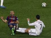 """Bóng đá Tây Ban Nha - Ronaldo, Mascherano trình diễn """"tuyệt kỹ"""" ăn vạ"""