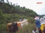 Camera hành trình - Tai nạn xe khách ở Quảng Nam, hàng chục người nguy kịch