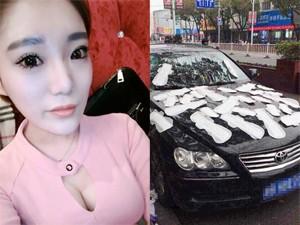 8X + 9X - Nổi máu ghen, hot girl dán băng vệ sinh khắp xe bạn trai