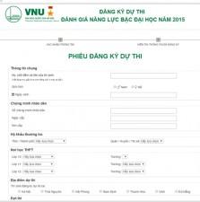 Giáo dục - du học - ĐHQG Hà Nội chính thức mở cổng đăng ký thi trực tuyến