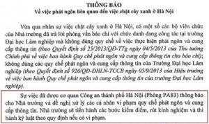 """Tin tức trong ngày - CA Hà Nội phủ nhận việc """"yêu cầu ĐH Lâm nghiệp kiểm điểm cán bộ"""""""