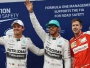 Thể thao - Phân hạng Malaysian GP: Hamilton đoạt pole trong mưa