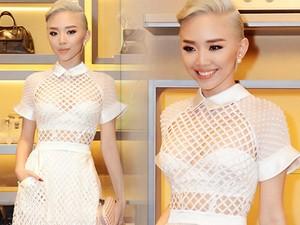 Thời trang - Tóc Tiên nổi bật với váy xuyên thấu, tóc bạch kim