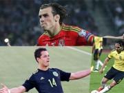 Ngôi sao bóng đá - Bale, Falcao, Ronaldo: Những bức tranh trái ngược