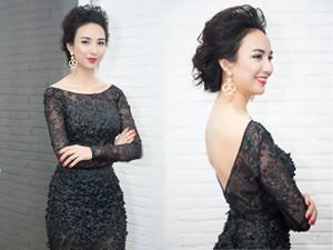 Thời trang - Hoa hậu Ngọc Diễm diện váy hở trọn lưng trần