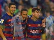 "Bóng đá - Nhìn lại 2015: ""Đinh ba"" MSN ăn đứt ""tam tấu"" BBC"