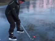 Thể thao - Thú vị: Vừa trượt băng vừa chơi golf