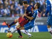 """Video bóng đá hot - Sốc: Messi bị trọng tài """"dằn mặt"""" trận gặp Espanyol"""