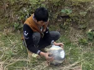 Phát hiện thêm vật thể  lạ  hình cầu ở Yên Bái
