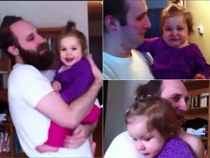 Tình yêu - Giới tính - Clip: Bé ngơ ngác khi bộ râu của bố bỗng dưng biến mất