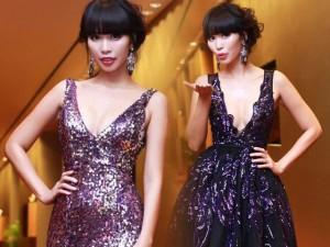 Thời trang - Hà Anh thay 2 váy xẻ sâu hút mắt dự sự kiện