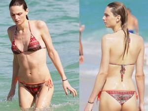 Thời trang - Mẫu chuyển giới 'hot' nhất hành tinh gợi cảm với bikini