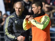 Bóng đá - Ronaldo chăm chú nghe Zidane buổi tập ra mắt Real
