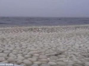 Phi thường - kỳ quặc - Video: Hàng nghìn quả bóng tuyết bí ẩn trên hồ ở Mỹ
