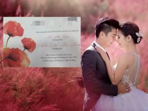 Đời sống Showbiz - Lộ thiệp cưới giản dị của Vân Trang