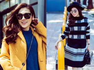Thời trang - Học á hậu Tú Anh biến hóa với những chiếc áo len