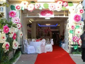 Đời sống Showbiz - Cận cảnh không gian tiệc cưới do Vân Trang thiết kế
