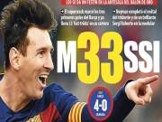 Bóng đá - Chỉ cần chân trái, Messi lập hat-trick thứ 33 cho Barca