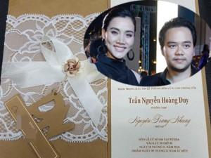 Lộ thiệp cưới của Trang Nhung sau gần một năm sinh con