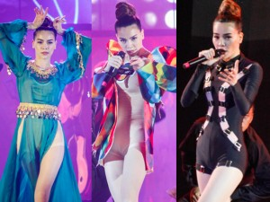 Ca nhạc - MTV - Hồ Ngọc Hà thay đồ chóng mặt trước hàng ngàn người