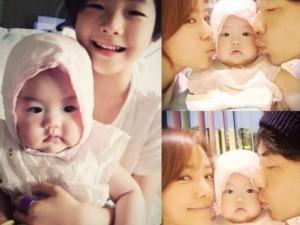 Vợ chồng Kwon Sang Woo khoe 2 nhóc tỳ xinh xắn