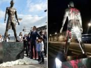 Bóng đá - Hậu Quả bóng Vàng, tượng Ronaldo bị bôi tên Messi