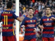 Bóng đá Tây Ban Nha - M-S-N phối hợp như đá tập trong top 5 vòng 19 Liga