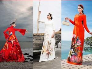Thời trang - Trương Thị May diện áo dài khoe dáng giữa thiên nhiên