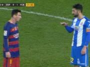 """Video bóng đá hot - Đội trưởng Espanyol chửi Messi là """"gã lùn"""""""