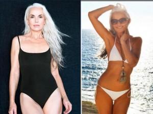Làm đẹp - Người mẫu 60 tuổi sexy, trẻ đẹp khó tin nhờ rau hữu cơ