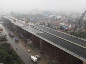 Tin tức trong ngày - Cận cảnh cầu vượt thép 6 làn xe lớn nhất Thủ đô