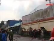 Video An ninh - Nổ lớn, cháy dữ dội tại Cty thực phẩm ở TP.HCM