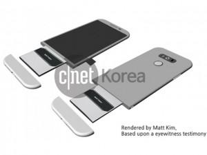 Lộ ảnh LG G5 có thể trượt phần vỏ để thay pin
