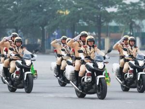 Tin tức trong ngày - CSGT 7 tỉnh tham gia phân luồng giao thông dịp Đại hội Đảng