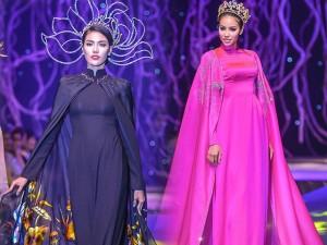 Thời trang - Phạm Hương, Lan Khuê diễn áo dài hơn 300 triệu đồng